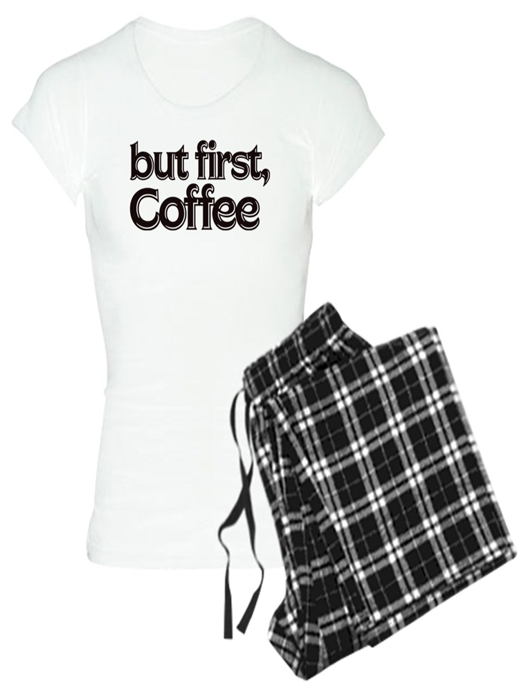 CafePress But First Coffee Organic Cotton Baby T-Shirt