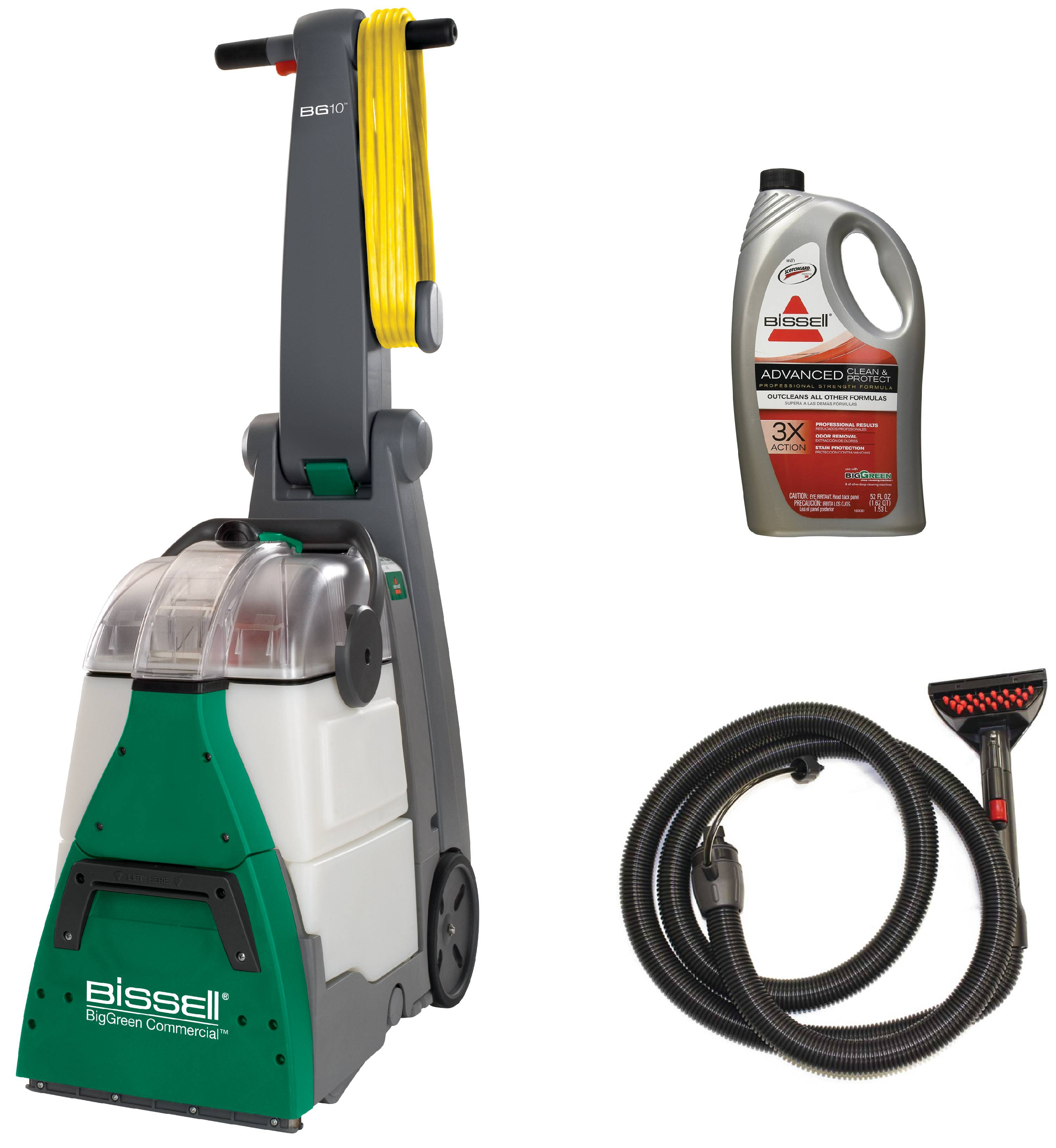 Bissell BG10 BigGreen Commercial Shampooer with Upholstery Tool Hose, Shampoo