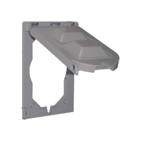 Sigma   Rectangle  Aluminum  1 gang Multi-Use Cover  For Closure of Unused Box Outlets (1 Gang Aluminum Deep Outlet)