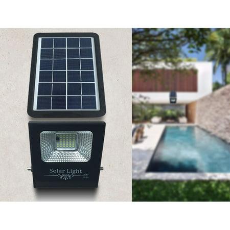 DC6V 5W 33 LED Solar Flood Lights Solar Panel Outdoor IP67 Water-resistant PIR Motion Sensor Human Infrared Sensor Detector Technology Light Built in 4500mAh High Capacity Rechargeable Battery for Ga - image 4 of 7