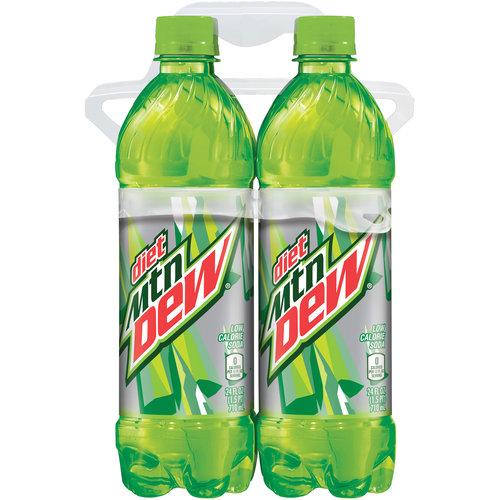 Diet Mountain Dew Soda, 24 fl oz, , 4 pack