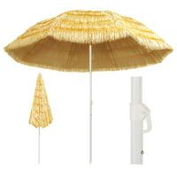 "OTVIAP Beach Umbrella Natural 118.1"" Hawaii Style"