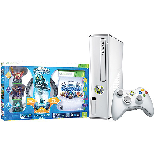 Image of Xbox 360 4GB Console w/ Skylanders Starter Kit and Exclusive Gill Grunt Character