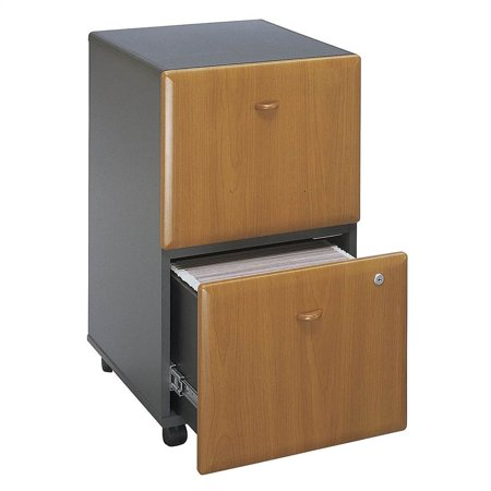 Black Cherry Fully Embled Rolling File Cabinet Series A