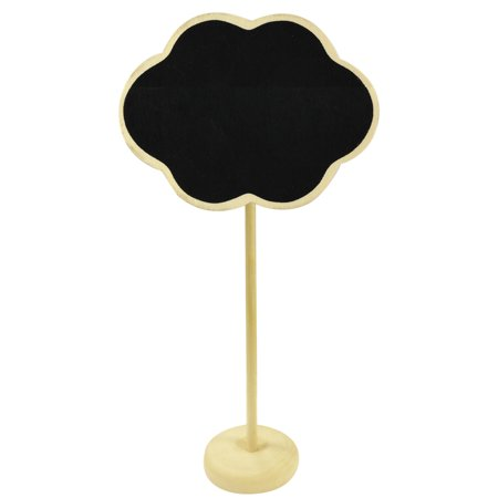 Wrapables® Mini Chalkboard Tag with Stand for Wedding and Party Table Markers, Plant Markers, Party Favors (set of 6) – Cloud (Cloud Party)