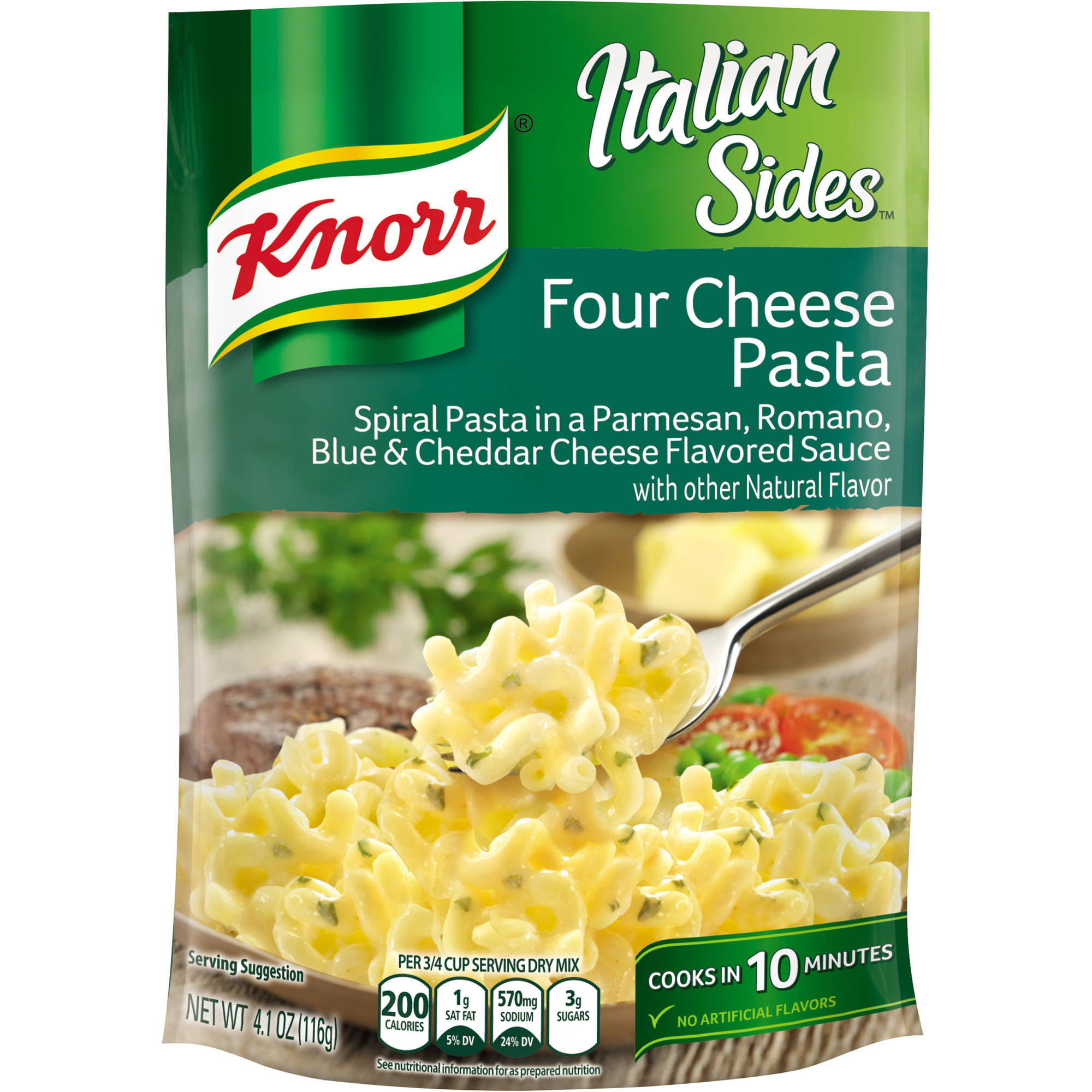 Knorr Italian Sides Pasta Side Dish Four Cheese Pasta, 4.1 oz