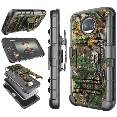 new concept 654b8 b662b Moto G5S Plus Case, 2017 Motorola Moto G5S Plus Holster Clip, Tekcoo  [Hoplite] Shock Absorbing [Camo Pine] Swivel Locking Belt Defender Heavy  Full ...