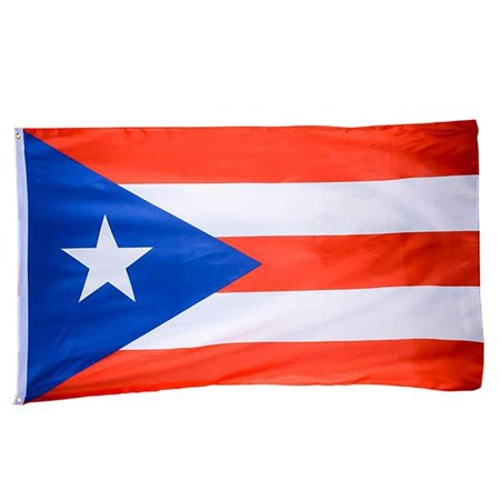 "3""x 5"" Puerto Rican Flag – Double Stitched Puerto Rico Flaglets - For Front Porch, Lawn Pole, Aisle Decoration - Perfect for Olympics, National Holidays, Patriotic Banner (Puerto Rico Party Decorations)"