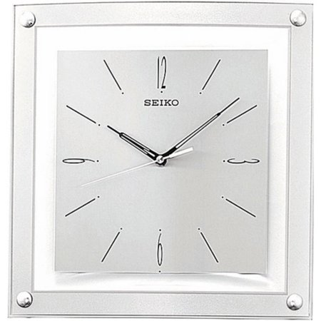 Seiko Silver Quiet Sweep 12.25 Inch Wall Clock