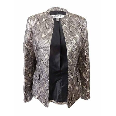 Kasper Women's Petite Metallic Jacquard Jacket