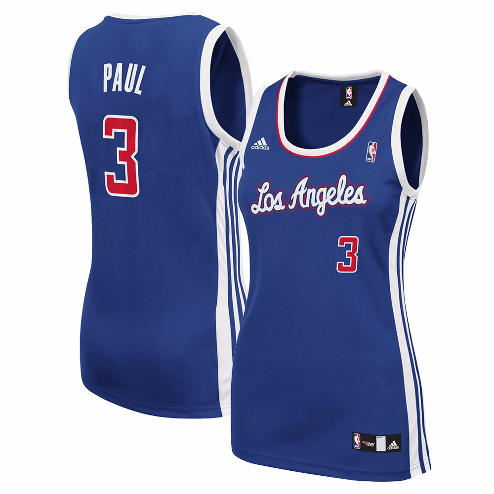 0f01049b891 ... where can i buy chris paul los angeles clippers nba adidas womens blue  replica jersey d6829