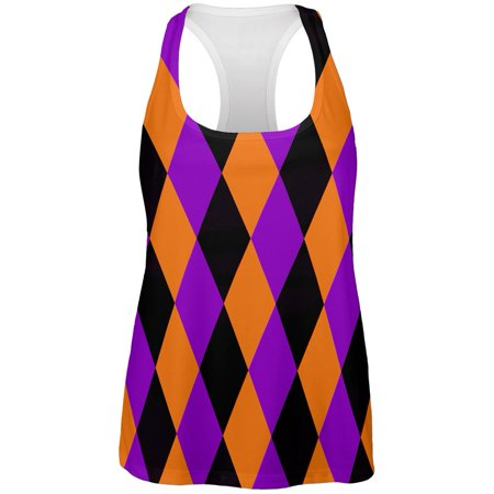 Halloween Court Jester Costume All Over Womens Work Out Tank Top ()
