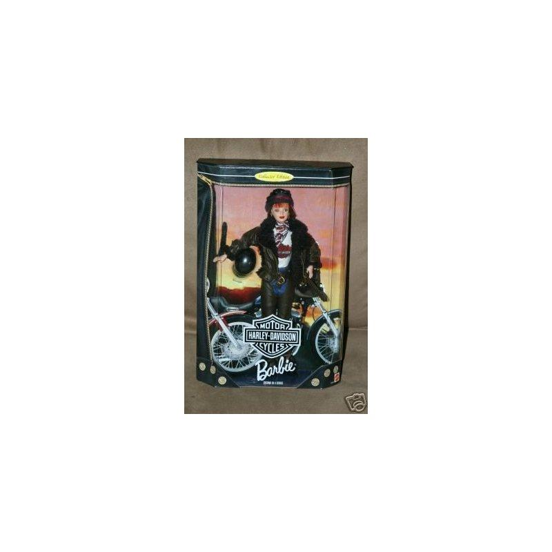 1998 Barbie Collector Edition : Harley Davidson Motor Cycles Red Head Barbie second in a... by