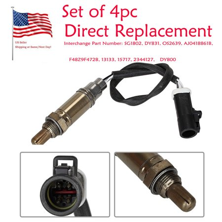 Muxika 4PC Direct Replacement Oxygen Sensor for Ford F-150 F-250 5.4L 234-4127 - Ford F150 Oxygen 02 Sensor