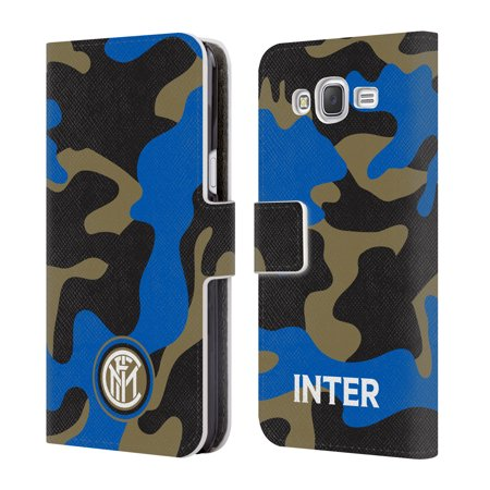 OFFICIAL INTER MILAN 2017/18 CREST PATTERNS LEATHER BOOK WALLET CASE COVER FOR SAMSUNG PHONES 3