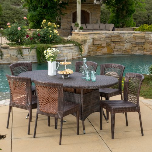 Best Selling Home Brando 7 Piece Wicker Patio Dining Set