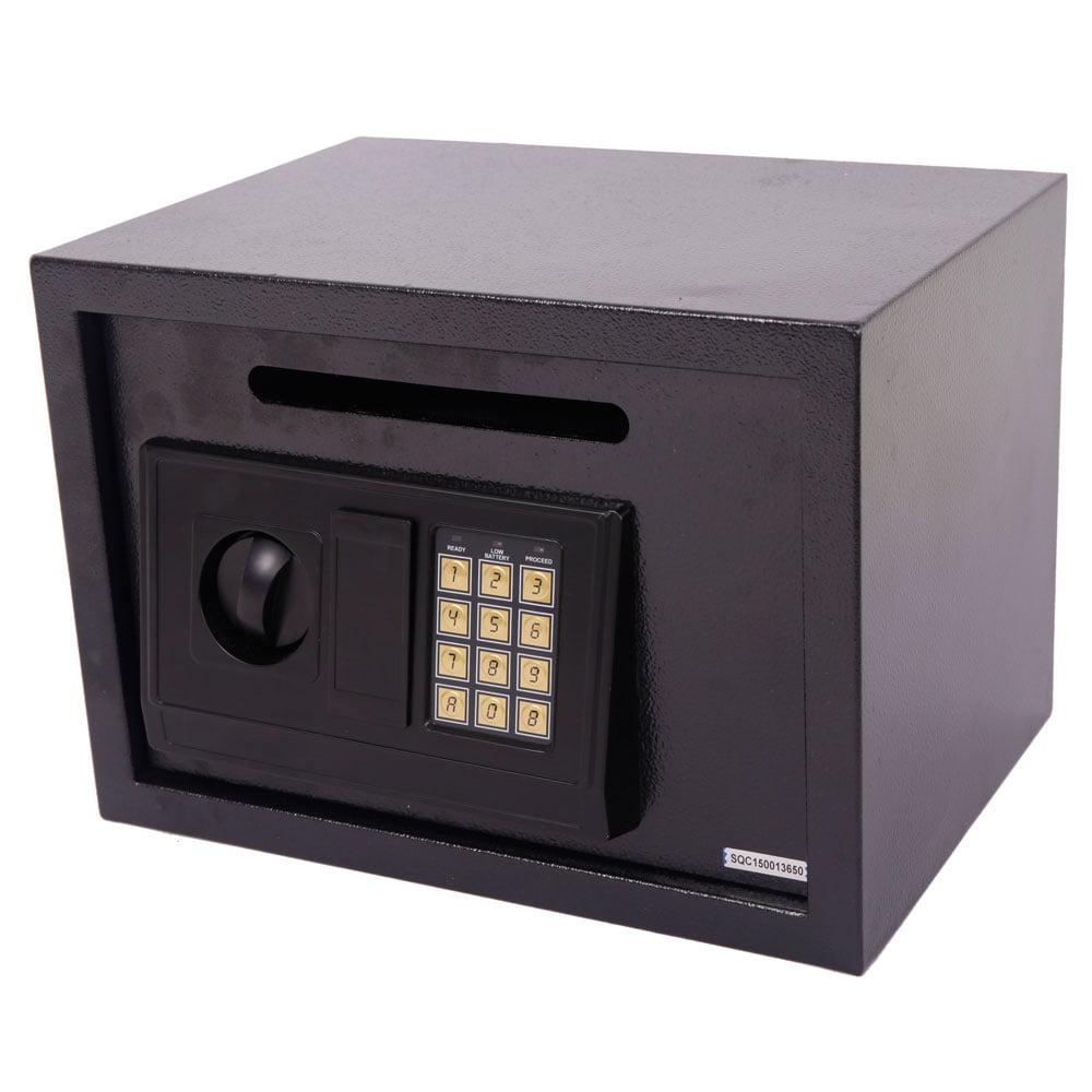 Zimtown Electronic Digital Depository Safe Boxs Cash Slot Drop Off Retail Security Vault