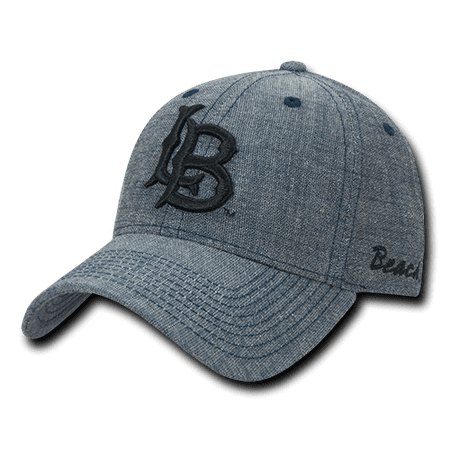 NCAA CSULB Long Beach State 49ers Cal State Structured Denim Caps Hats -