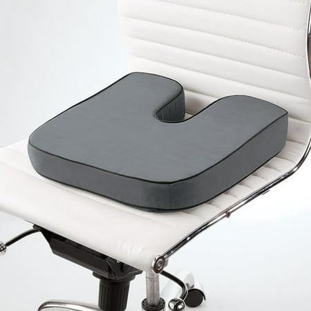 Brookstone Biosense Memory Foam Orthopedic Seat Cushion