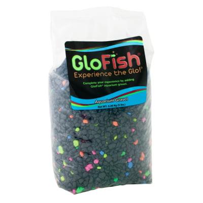 (2 Pack) GloFish Black/Neon Aquarium Accent Gravel, 5 lb