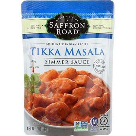 Saffron Road Tikka Masala Simmer Sauce, 7 OZ (Best Store Bought Tikka Masala Sauce)