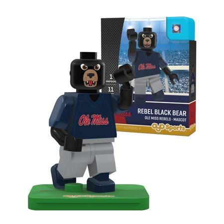 Ole Miss Rebels OYO Sports Rebel Black Bear Generation 2 Mascot Figurine - No