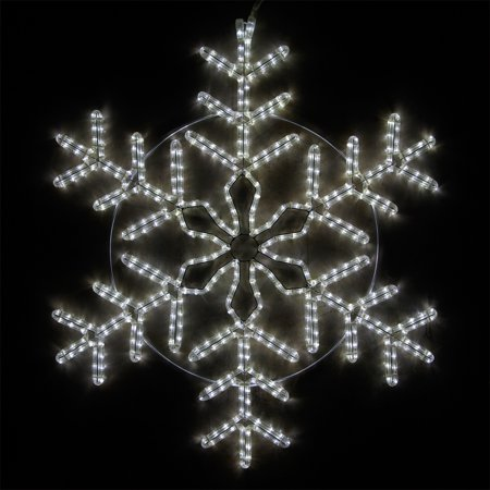 Wintergreen Lighting LED Snowflake Light Christmas Decorations Outdoor  Snowflake Christmas Lights, Christmas Snowflake, LED Rope Light (36