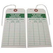 BADGER TAG & LABEL CORP 117 Eye Wash Station Inspection Tag, PK25