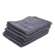 5 Pcs High Absorbing Microfiber Fabric Car Clean Cloth Towel Protective for Auto Car Gray