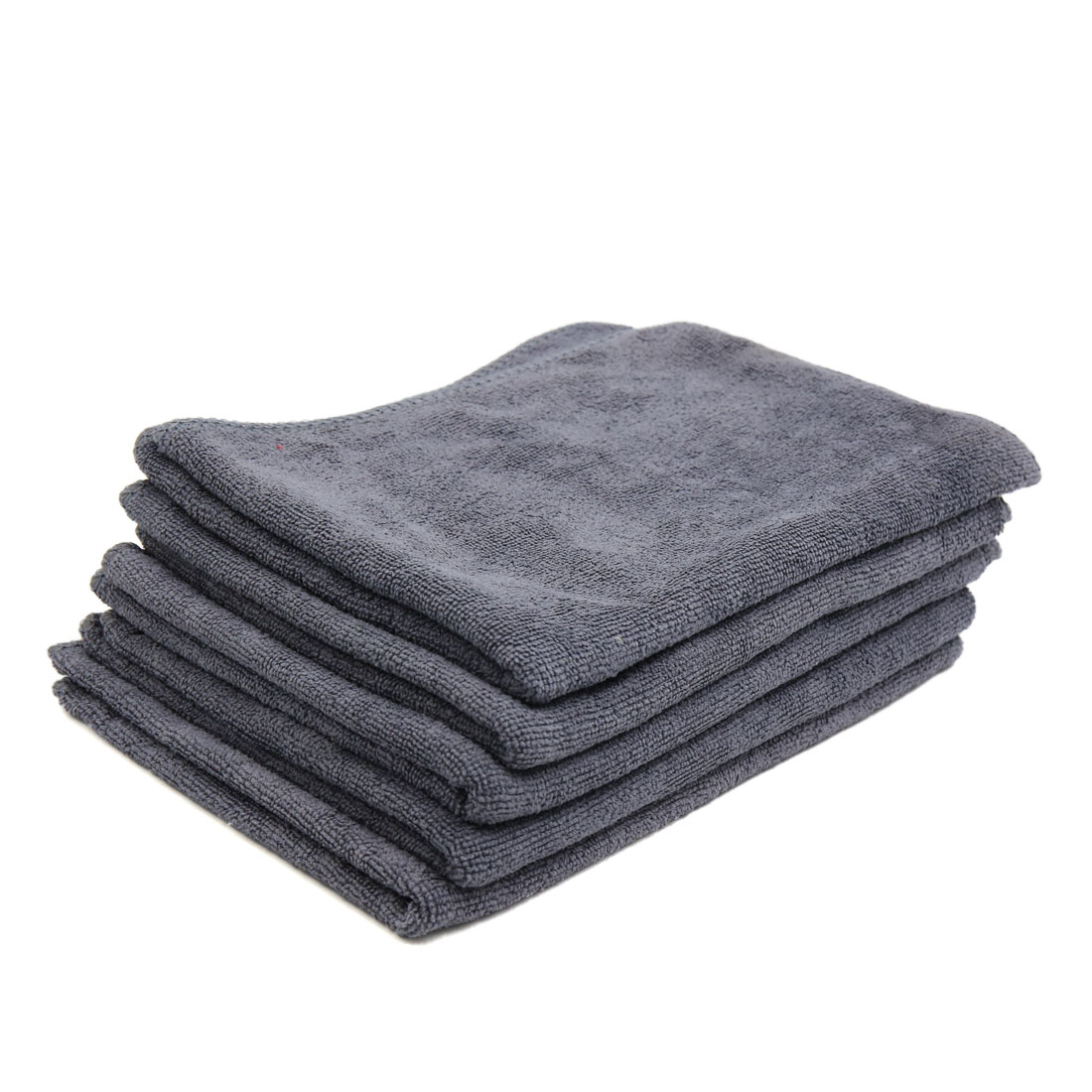 5pcs 65 x 33cm 250GSM Microfiber Towel Clean Cloths for Car Washing Gray