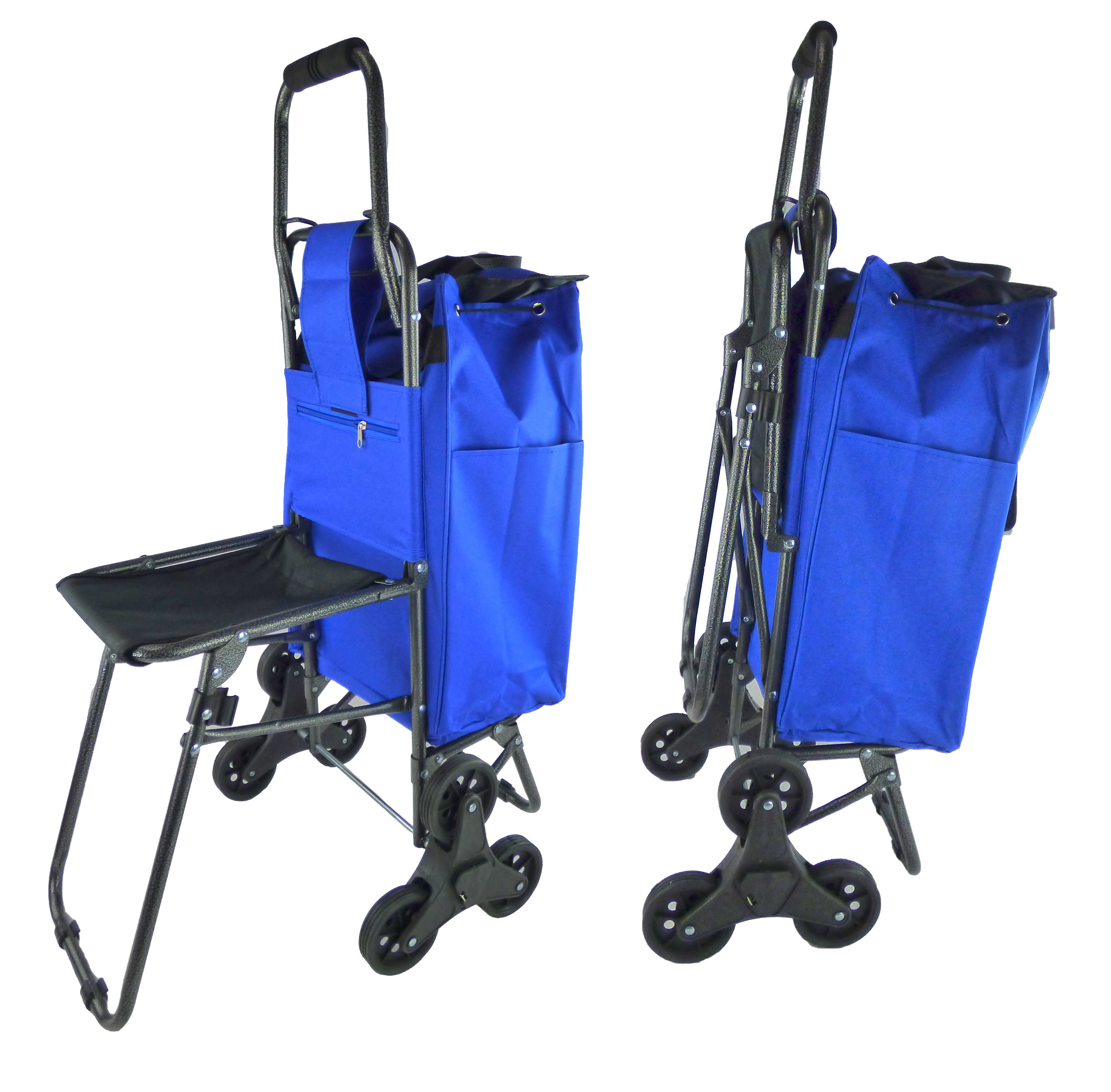 Trolley Dolly Stair Climber Cart With Seat Tri Wheel Climbing Folding Grocery Ping Seen On Tv