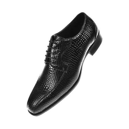 Bolano Mens Exotic Oxford Dress Shoes Your Choice of Crocodile Skin/EEL Skin/Lizard Skin Cap Toe - Cheap Exotic Dancer Shoes