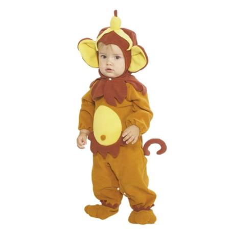 Rubies Infant Boys & Girls Monkey Costume With Banana Hat Baby - Banana Infant Costume