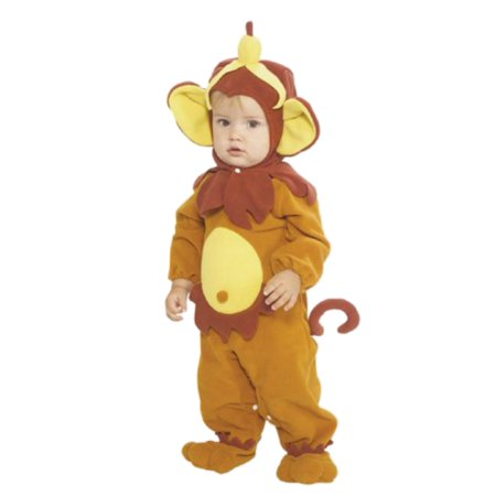 Rubies Infant Boys & Girls Monkey Costume With Banana Hat Baby Romper - Baby Banana Costume