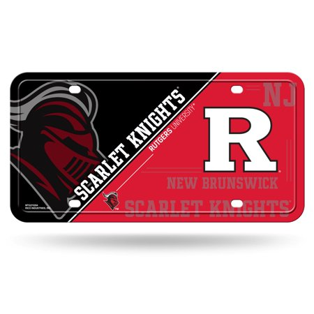 Rutgers Scarlet Knights NCAA 12x6 Auto Metal License Plate Tag CAR TRUCK