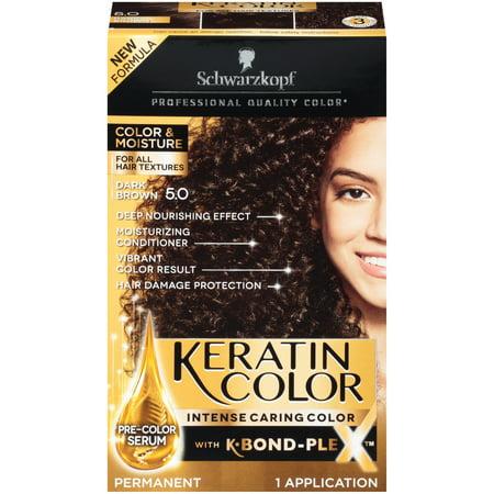 Schwarzkopf® Keratin Color Intense Caring Color Dark Brown Permanent Hair Color 7 pc Kit (Schwarzkopf Hair Color)