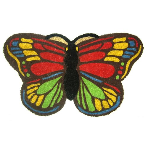 Geo Crafts, Inc Colorful Butterfly Doormat