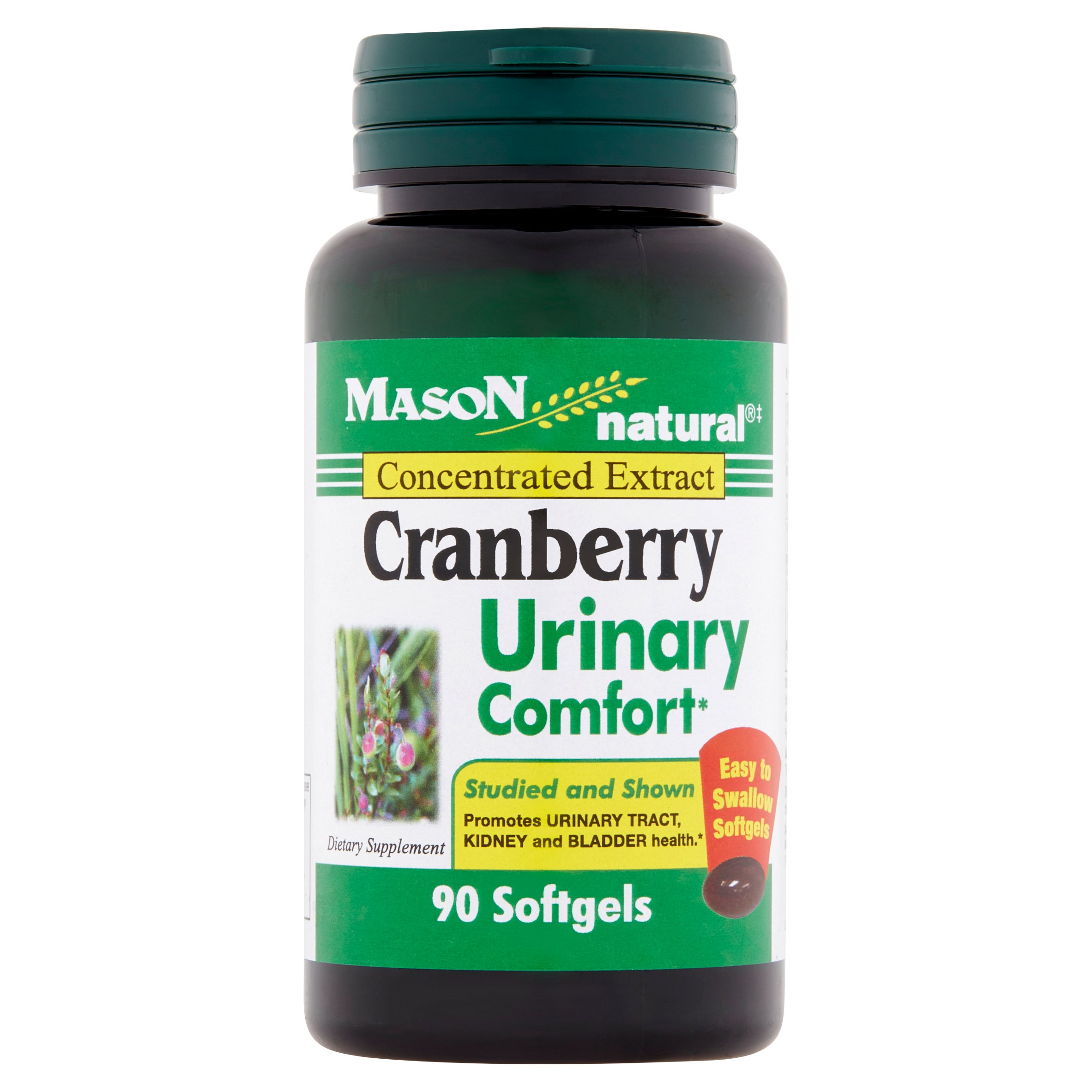 Mason Natural Concentrated Extract Cranberry Softgels, 90 count