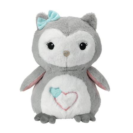 Lambs & Ivy Sweet Owl Dreams Gray/White Plush Stuffed Animal Toy - Sugar