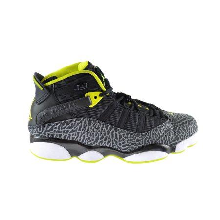 100% authentic 11fa7 a8cd4 Jordan 6 Rings Mens Basketball Shoes BlackVenom  Green-White- ... 1efdf221e4