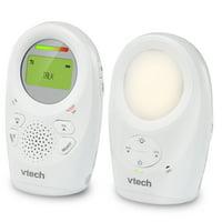 VTech DM1211 Enhanced Range Digital Audio Baby Monitor with Night Light, 1 Parent Unit, Silver & White