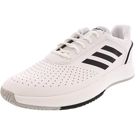 Adidas Men's Courtsmash Cloud White / Core Black Grey Two Ankle-High Fashion Sneaker - 11M (Adidas Shoes Sneakers)