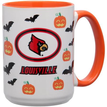 Louisville Beverage (Louisville Cardinals 15oz. Inner Color Orange Halloween Mug - No Size)