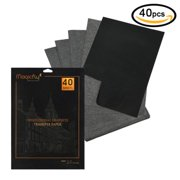 """Magicfly 40 Sheets (9"""" x 13"""") Graphite Transfer Paper,Black Carbon Tracing Paper"""
