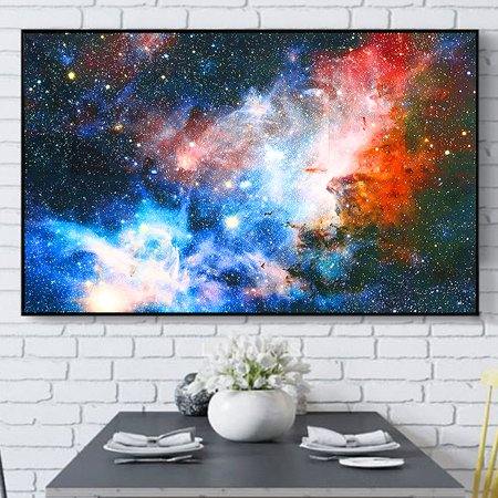 """24'' x 43"""" Space Cosmos Universe Planet Nebula Art Silk Galaxy Painting Poster Home Art Wall Decor GIFT - image 6 of 6"""