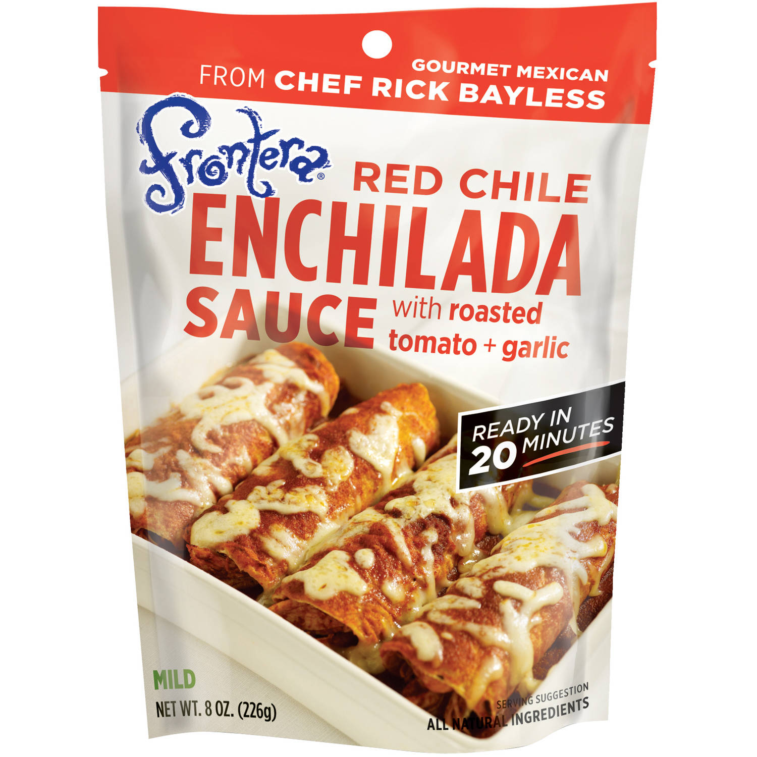 Frontera Red Chile Enchilada Sauce with Roasted Tomato + Garlic, 8 oz