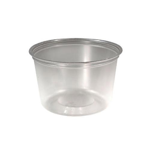 Solo M-line Food Container Cups, 16 Oz, Plastic, Clear, 50/pack SCCMC160X