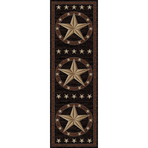 Mayberry Rug Hearthside Western Star Ebony Area Rug