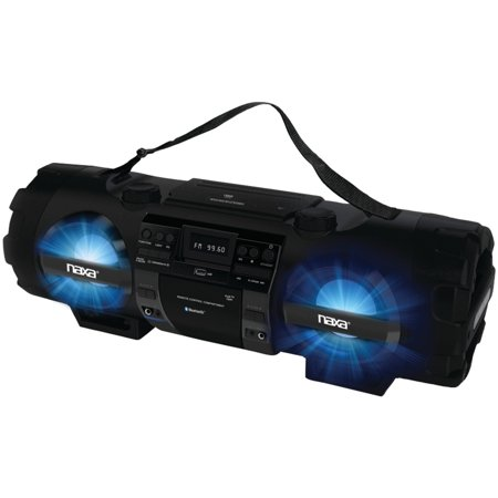 Naxa Npb 262 Cd Mp3 Bass Reflex Boom Box   Pa System With Bluetooth
