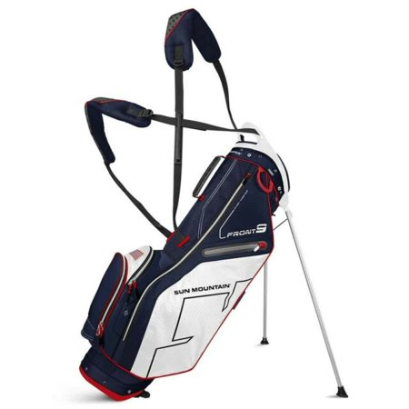 Sun Mountain Front 9 Golf Stand Bag, (Bag Boy Quad Vs Sun Mountain Micro)